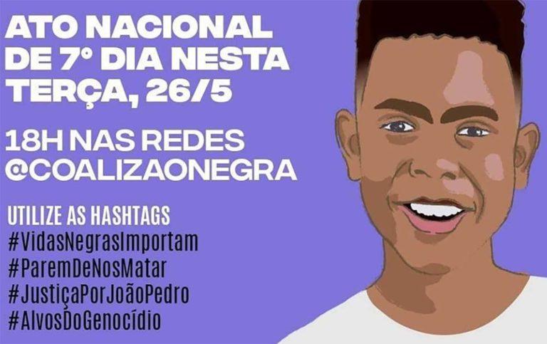 Movimento Negro organiza ato nacional pela morte de João Pedro