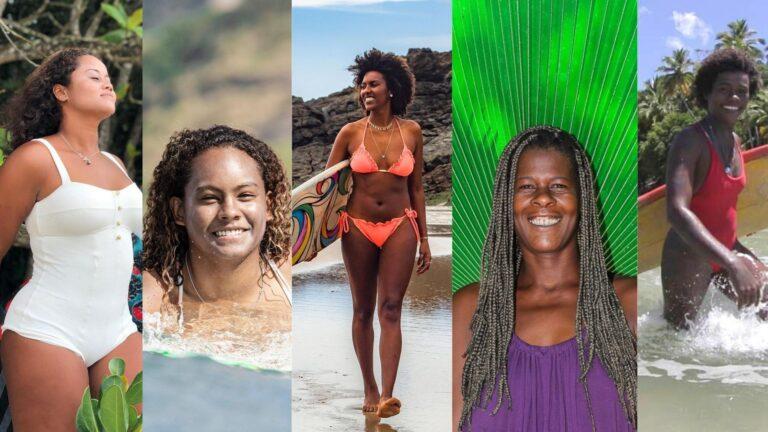 """Surfistas negras dominam a cena na série """"Janaínas: Deusas do Mar"""", que estreia hoje"""