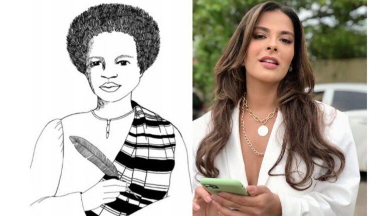 """""""Me considero de todas as cores"""", diz atriz alvo de protestos por interpretar a advogada negra Esperança Garcia"""